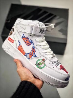 """Supreme x Nike x NBA Air Force 1 偽物 ミッド """"白"""""""