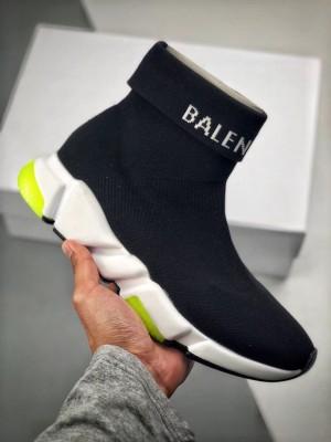 """Balenciaga Speed Trainer 綿混紡織物 """"ブラックイエロー"""""""